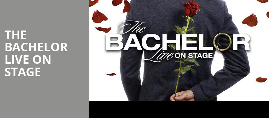 The Bachelor Live On Stage, Ruth Eckerd Hall, Clearwater