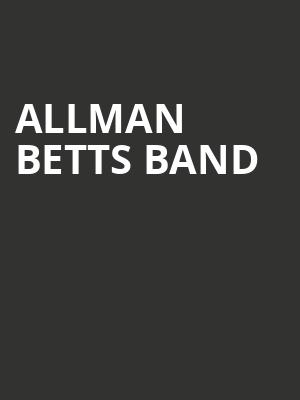 Allman Betts Band Poster
